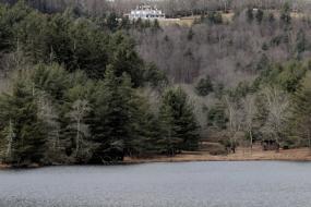 Flat Top Manor over Bass Lake