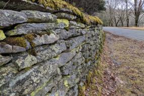 Rock wall on Bass Lake Trail