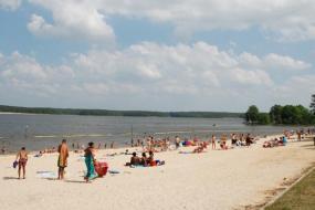 Beach at Jordan Lake