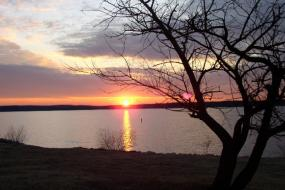 Sunset over Jordan Lake
