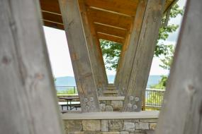 Deck at the visitor center