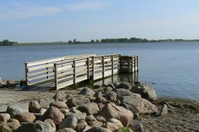 Fishing dock on lake