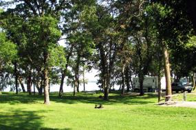 Campground at the lake