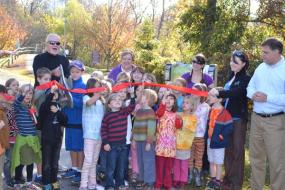 Ribbon cutting at the grand opening