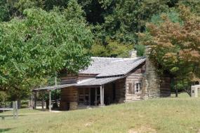 Cabin at the Hutchinson Homestead