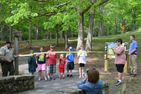 Ribbon cutting ceremony at Hungry Mother State Park TRACK Trail