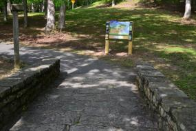 interpretative sign on the Hungry Mother State Park TRACK Trail