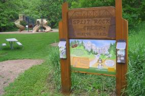 Kids in Parks trailhead sign with brochures